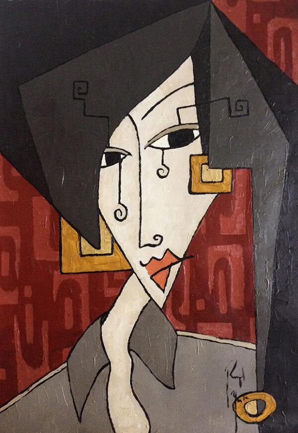 woman with square earrings_web